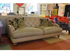 Windermere Large 3 Seater Sofa in Tan Beige Leather