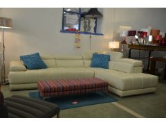 Italian leather corner sofas half price at WB in Clitheroe