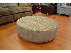 Large Twister Footstool Round Swivel Pouffe
