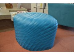 Blue Foam Footstool Tonon River Stone Rubber Pouffe