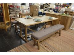 Finchley Dining Table with Two Padded Benches