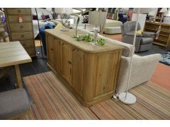 Revival Long Sideboard in Grey Washed Wood