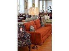 Magnum Floor Lamp Mid Century Style Wood Effect Standard Lamp