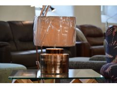 Bronze Ceramic Table Lamp Round Cylinder Shape