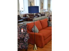 Denley Floor Lamp Moody Blue Shade with Gold and Black Base