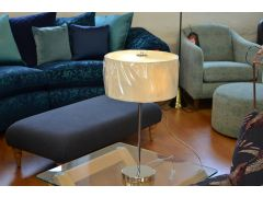 Cream Drum Table Lamp with 2 Lights and Glass Diffuser 4562-2CR