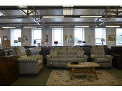 ex display sofas Duresta Southsea Three Piece Suite half price clearance designer settees Clitheroe Lancashire A59