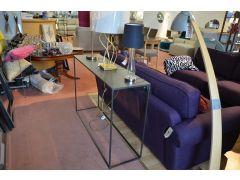 gunmetal console table designer furniture outlet Lancashire