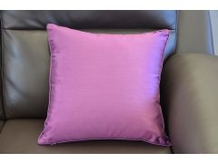 Pair of Purple Artificial Silk Scatter Cushions