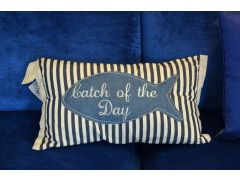 Catch of the Day Pair of Bolster Cushions