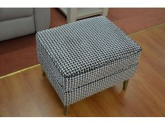 Chevron Footstool with Storage and Metal Legs