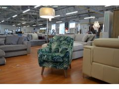 tropical print armchair ex display sofas A59 Lancashire