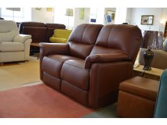 Chadwick Two Piece Suite Brown Leather Pair of 2 Seater Sofas