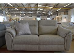 Cove Two Piece Suite 3 Seater Sofa and 3 Seater Recliner in Beige Fabric