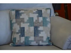 Set of 4 Luxury Scatter Cushions in Tetris Seagrass