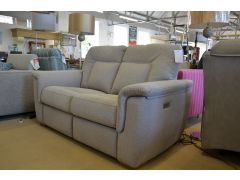 Elliot 2 Seater Fabric Sofa with Twin Electric Recliners and USB Charger