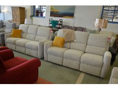 Ex Display Sofas Large Leather Suite with Recliner Sofa Lancashire