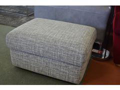 Prototype Footstool in Grey Woven Fabric with Free UK Delivery