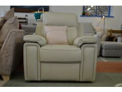 Hannington Cream Leather Armchair