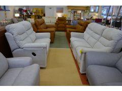 Lancashire Sofas Malvern two piece suite half price ex display sofa sale