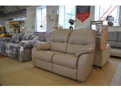 Mistral Two Seater Sofa in Grey Leather