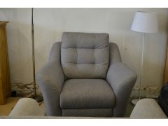 Pip Recliner Armchair in Grey Fabric