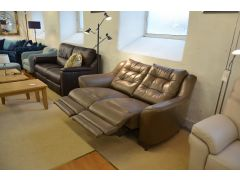 Half Price G Plan Pip Leather Sofas in Lancashire