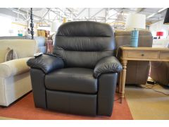 Dinton Dual Motor Elevate Armchair Black Leather