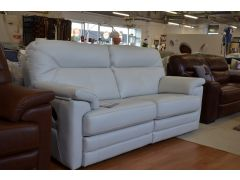Stanton Leather Sofa 3 Seater Manual Recliner