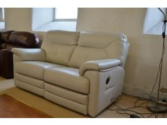 Stanton Leather Two Piece Suite 3 Seater Manual recliner and 2 Seater Electric Sofas