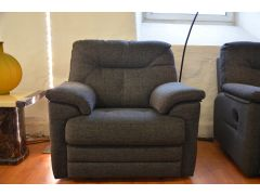 Stanton grey fabric armchair ex display sofas with fast delivery UK delivered before Christmas