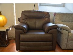 Stanton Electric Recliner Chair in Mocha Leather