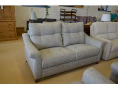 Sussex 3 Seater Sofa Grey Fabric Famous British Brand
