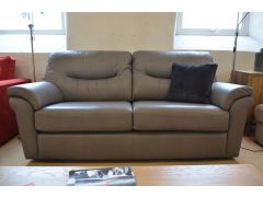 Washington Three Seater Sofa Grey Leather