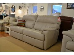 Watson 3 Seater Leather Sofa Beige Leather