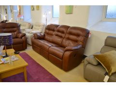 Wexcombe 3 Seater Recliner Sofa, 2 Seater Sofa, Recliner Chair & Footstool Large 3 Piece Suite