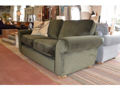 ex display sofas Lancashire green fabric suite two piece settee set clearance sale Clitheroe Lancashire just off the A59 near Loom Loft - but much cheaper!