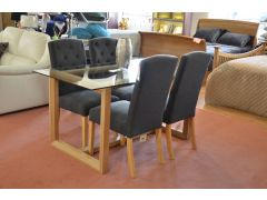 Willis & Gambier Glass Dining Set Half Price Discount Lancashire