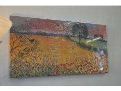 Harvest Song Print on Canvas Country Style Scene