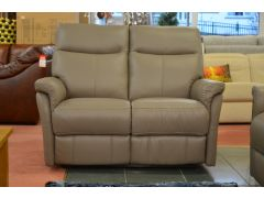 Hayward leather manual reclining 2 seater sofa half price from Housing Units