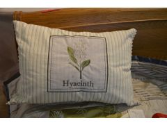 Hyacinth Bolster Cushions Pair of 2 Botanical Cottage Style
