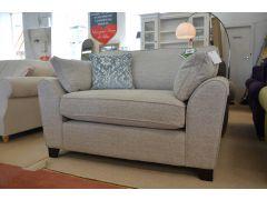 Idaho Snuggler Chair Grey Fabric Cosy Armchair with cushion