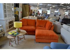 Imogen Corner Sofa Chaise in Orange Velvet