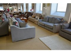 Imogen Two Piece Suite pair of 3 Seater Sofas Grey Velvet