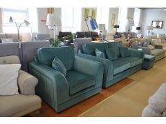 ex display sofas green velvet suite