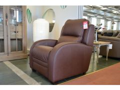 Charleston Brown Leather Recliner Armchair