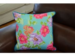 Pair of Brightly Coloured Floral Cushions