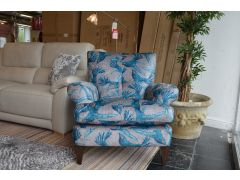 Beautiful bird fabric armchair in lancashire