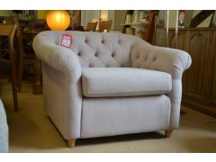 Kittisford Armchair in Cotton Mix Pale Pink Fabric