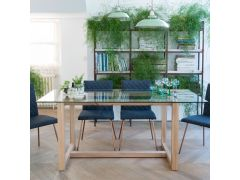 Hadleigh Large Glass Dining Table